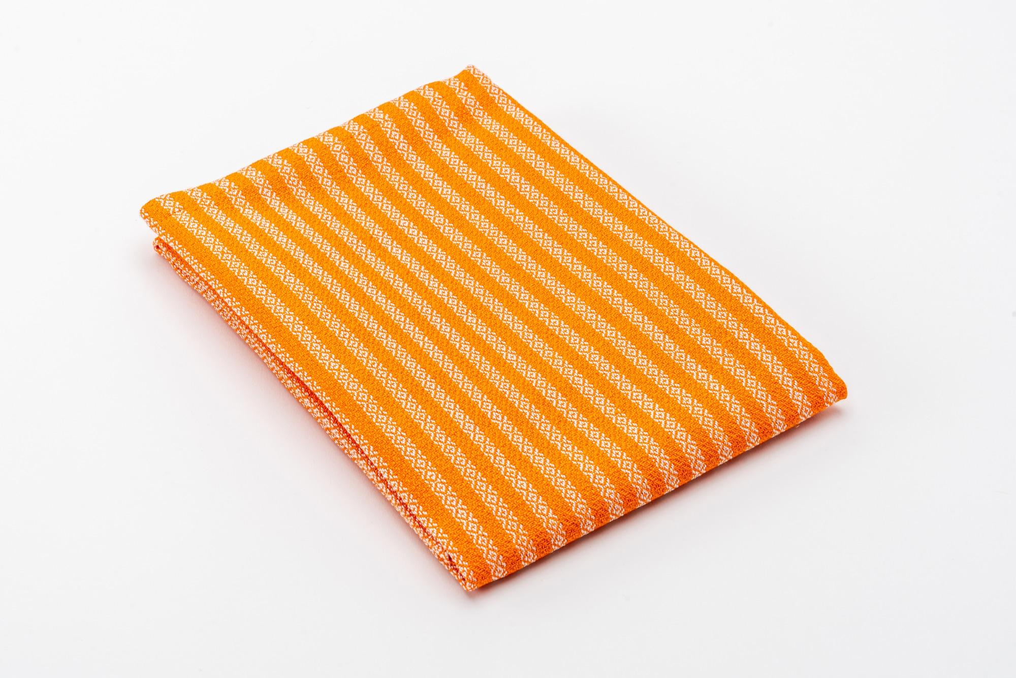 Grischun Geschirrtuch Orange 1 gefalten