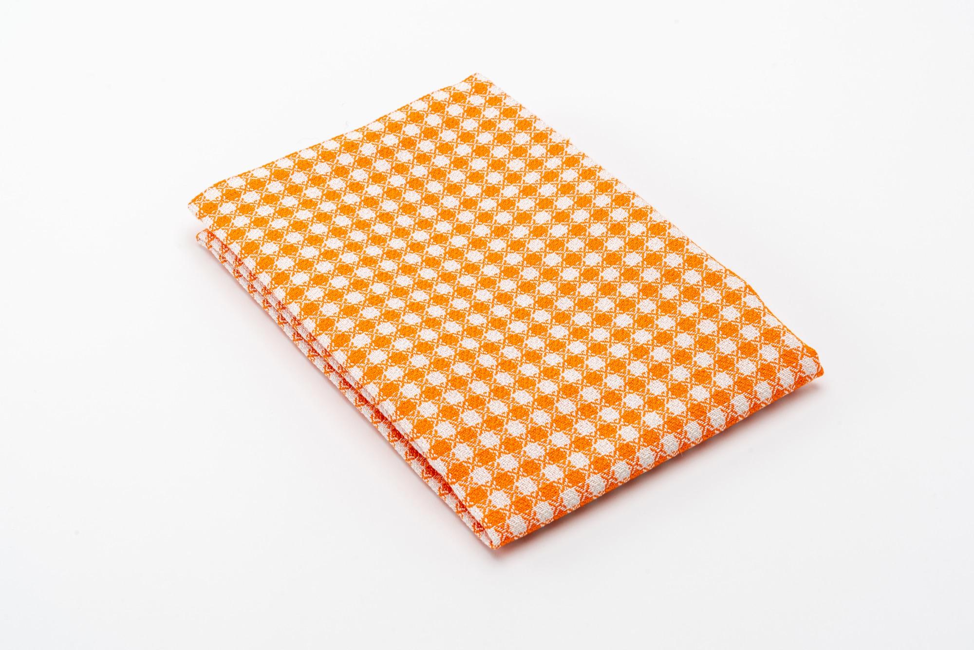 Grischun Geschirrtuch Orange 3 gefalten