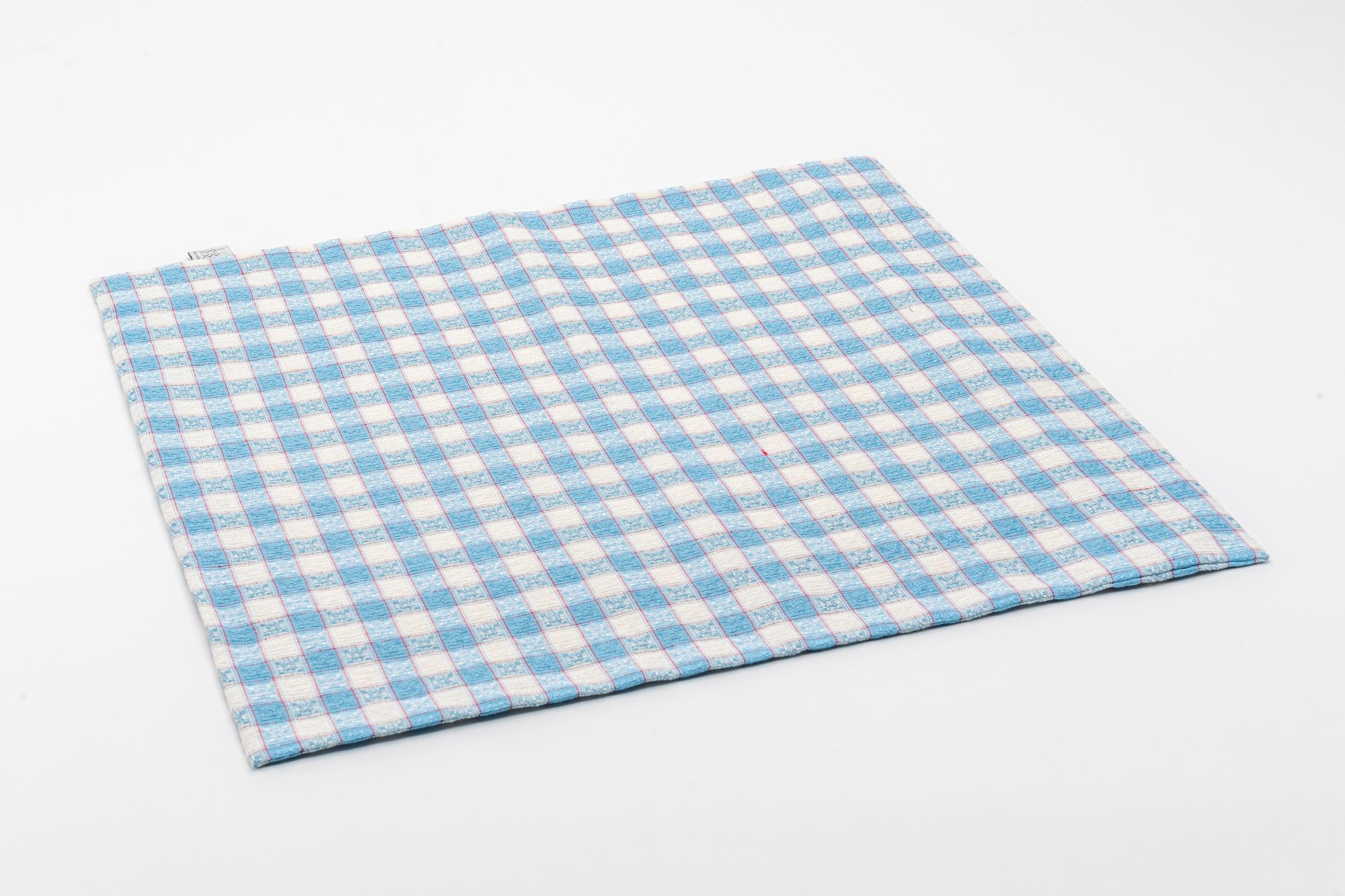 Kölsch Kissenbezug blau 50×50 offen