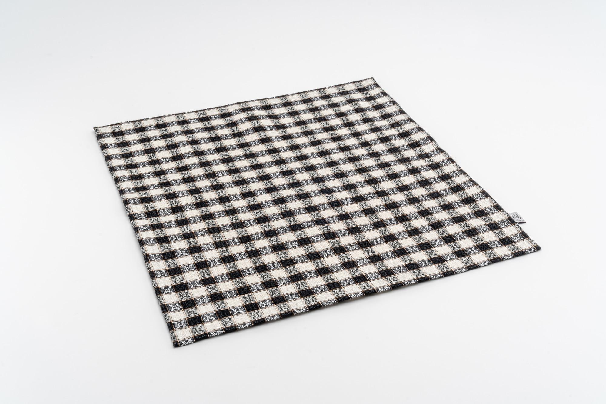 Koelsch Kissenbezug 50×50 Schwarz Weiss offen
